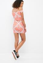 Missguided - Paisley print bardot bodycon dress