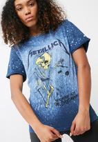 Missguided - Metallica distressed t-shirt