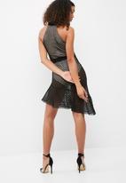 Missguided - Fishnet mesh halterneck skater dress