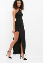 Missguided - One shoulder peplum maxi dress