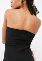 Missguided - Bandage strapless dress