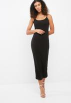 Missguided - Ribbed midi dress