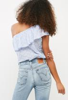 dailyfriday - One shoulder flounce blouse