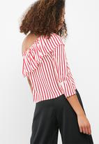 dailyfriday - Asymmetrical frill blouse