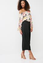 dailyfriday - Drawcord sleeve blouse