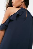 dailyfriday - Keyhole ruffle blouse