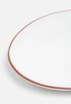 Urchin Art - Terracotta edge oval platter