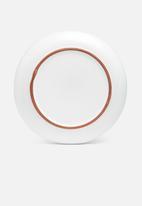 Urchin Art - Terracotta edge dinner plate set of 4