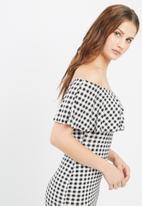 Missguided - Gingham layer bardot dress