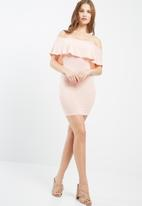 Missguided - Frill bardot bodycon dress