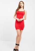 Missguided - Cowl front multi strap jersey dress