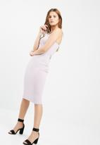 Missguided - Racer neck midi dress
