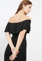 Missguided - Frill bardot bodycon dress