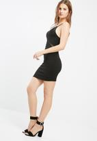 Missguided - Strappy mesh insert bodycon dress