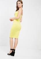 Missguided - Bandeau bodycon midi dress