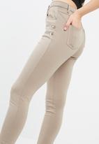 Missguided - Double zip detail ponte leggings