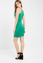 Missguided - 90s neck side split dress