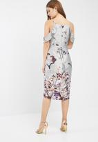 Missguided - Frill floral midi dress