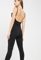 Missguided - Crepe low back ankle grazer unitard jumpsuit