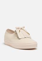 a6b42fee1d91 Vans Authentic Fringe DX LTHR - whisper pink   gold Vans Sneakers ...