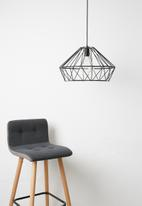 Indigi Designs - Metal facet pendant