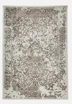 Sixth Floor - Vintage rug - brown & cream