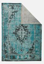 Sixth Floor - Vintage rug - blue/green mix