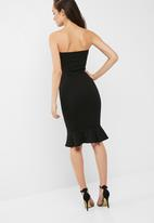 Missguided - Bandeau flippy hem midi dress