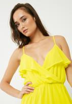 Missguided - Ruffle cami maxi dress