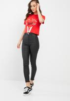 Missguided - New york graphic corset top