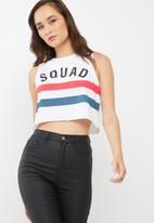 Missguided - Squad slogan vest top