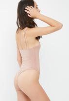 Missguided - Slinky cross front bodysuit