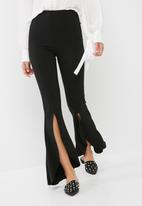 Missguided - Split front flare trousers