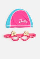 Character Fashion - BARBIE swimming goggles and cap