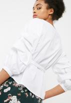 ONLY - Nicoline ruched sleeve top