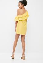 dailyfriday - Tiered one shoulder dress