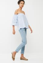 dailyfriday - Tiered off the shoulder blouse
