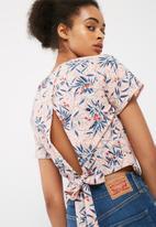 dailyfriday - Wrap back woven blouse