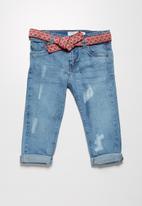 MINOTI - Belted jeans