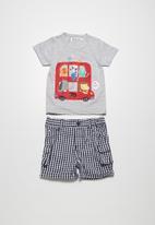 Babaluno - Bus t-shirt & shorts set