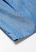 dailyfriday - Frill denim tunic top