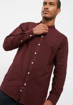 basicthread - Regular fit mandarin oxford shirt