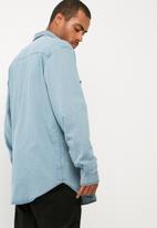 basicthread - Regular fit distressed denim shirt
