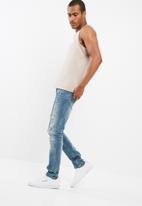 basicthread - Printed slim fit vest