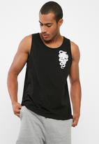 basicthread - Printed slim fit vest