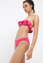 Missguided - Frill bandeau bikini top