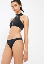 Missguided - Zip front sporty bikini set