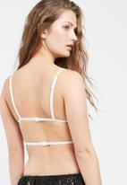 Missguided - Strappy lace triangle bra