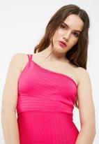Missguided - One shoulder bandage mini dress