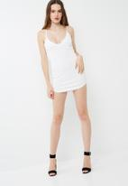 Missguided - Crepe plunge mini dress